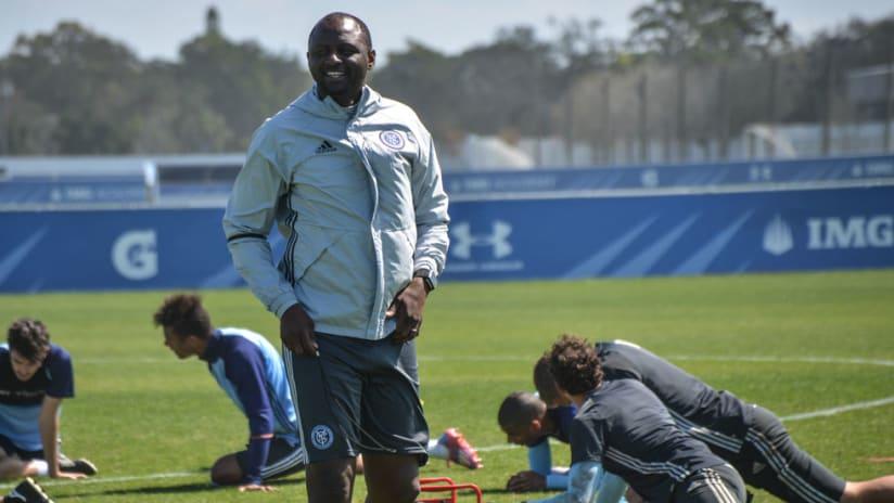 Patrick Vieira - New York City FC - at training in Florida