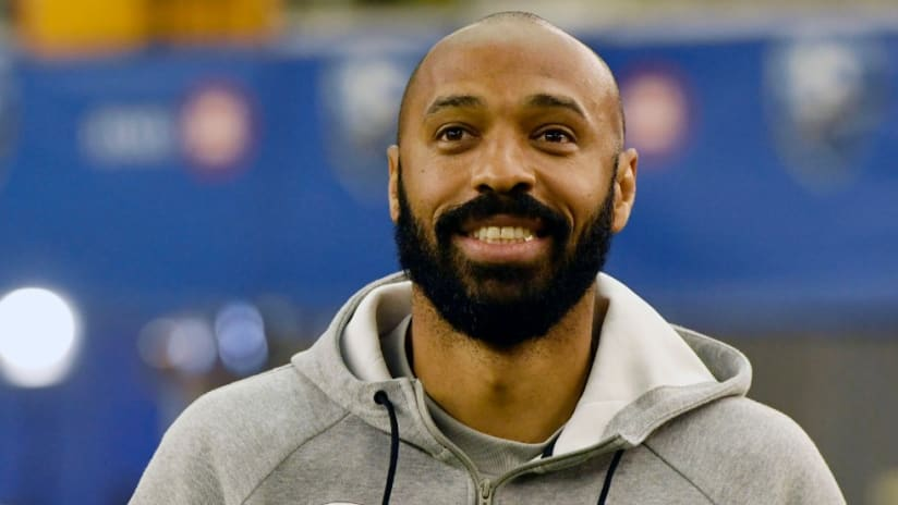Thierry Henry - smiling - hoodie