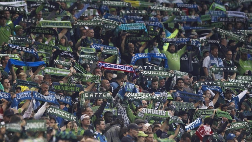 Seattle Sounders crowd at CenturyLink Field - October 2015