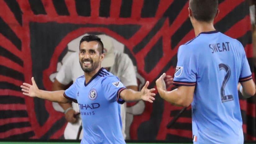 Maxi Moralez - celebrating - goal in Orlando