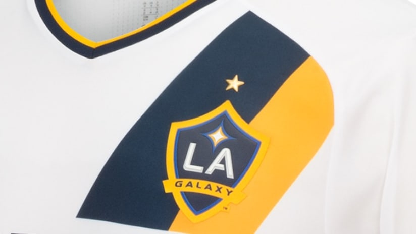 LA Galaxy 2016 jersey with crest and star detail