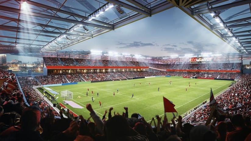 St. Louis - proposed stadium rendering - interior - MLS4TheLou