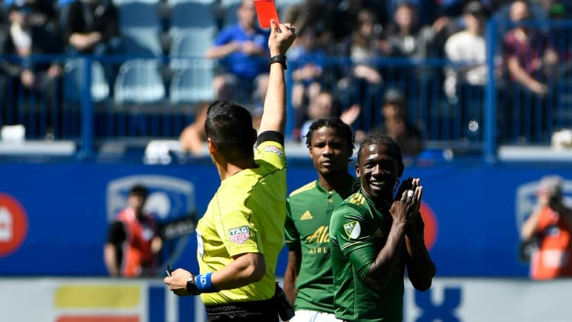 Diego Chara - Portland Timbers - Red Card vs Montreal Impact