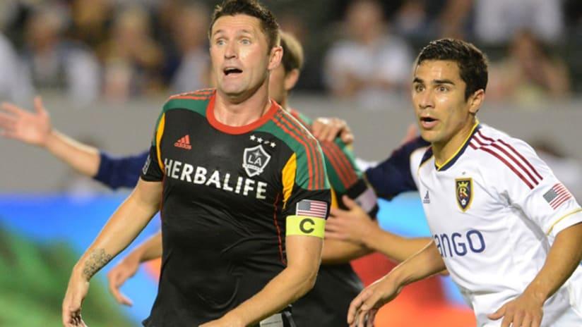 Robbie Keane and Tony Beltran (August 17, 2013)
