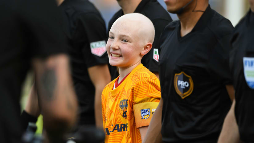Brynn Moore - FC Dallas - Kick Childhood Cancer - 10-year-old from Diamond Wishes Children's Charity to one-day contract