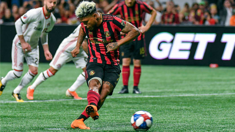 Josef Martinez - Atlanta United - takes a penalty in the Eastern Conference final