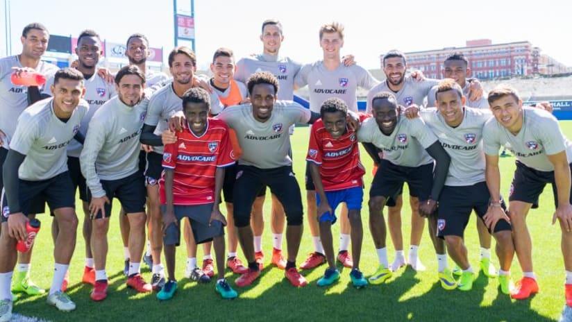 FC Dallas - Ethiopian Twins - Team Photo