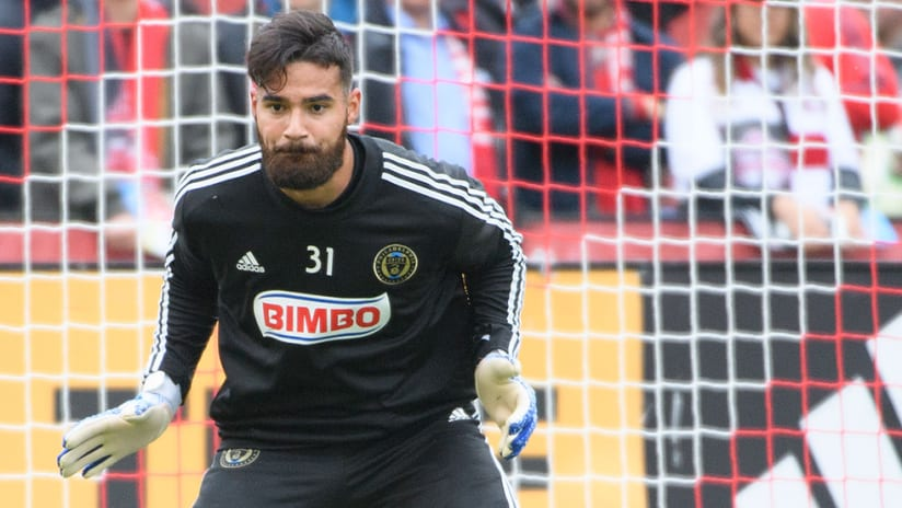 Carlos Coronel - Philadelphia Union - warmup save