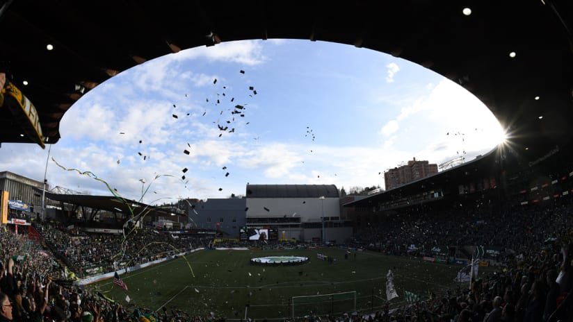 Providence Park - wide shot - from Timbers Army - April 2017