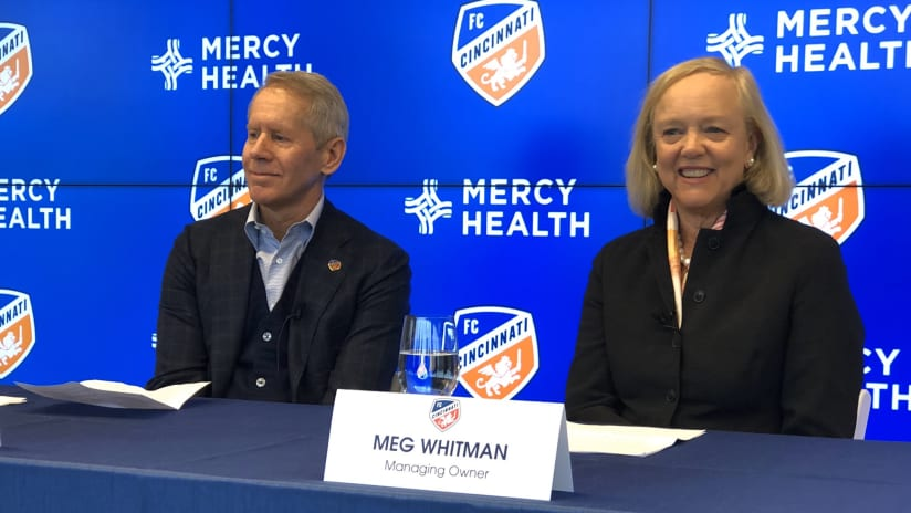 Meg Whitman - FC Cincinnati press conference