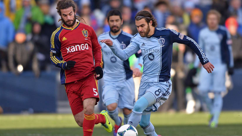 Kyle Beckerman, Graham Zusi - Real Salt Lake vs. Sporting KC - MLS Cup 2013