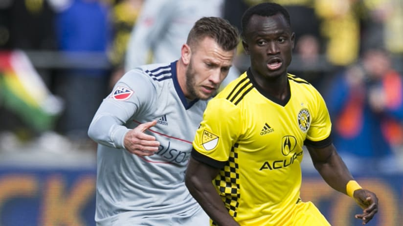 Mohammed Abu - Columbus Crew - in midfield