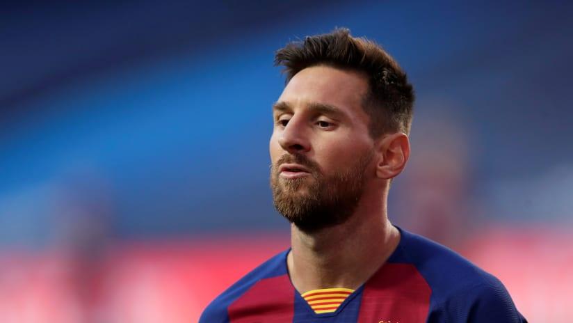 Lionel Messi Barcelona in Champions League
