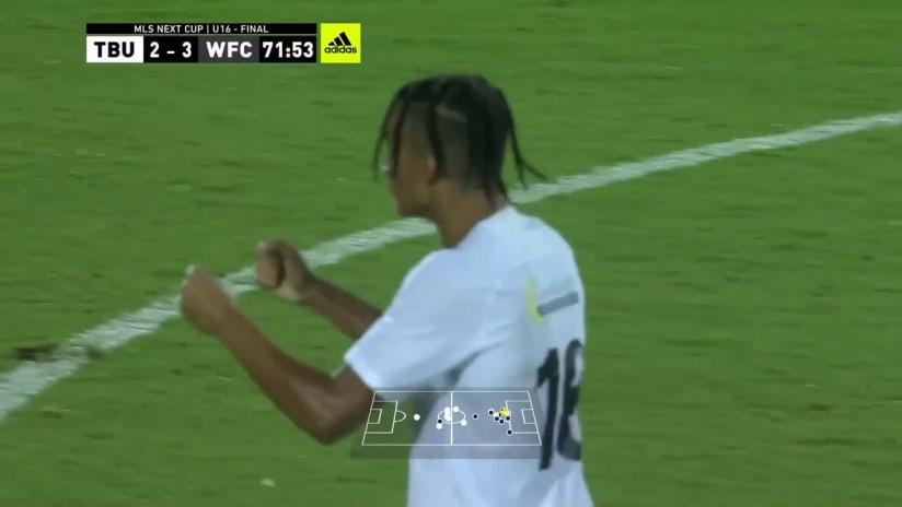 TARGET: Robert White, Tampa Bay United - 72nd min    MLS NEXT Cup 2021 u16 Final
