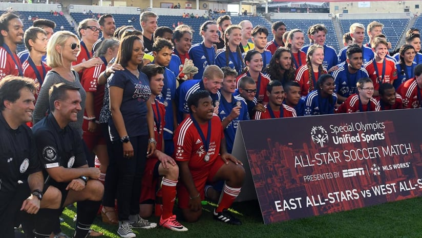 Special Olympics - Unified All-Star Game - 2017 group photo