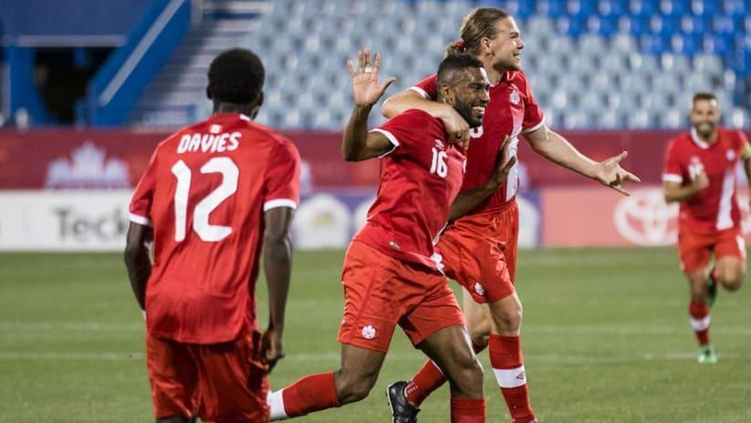 Canadian national team - Anthony Jackson-Hamel - group celebration