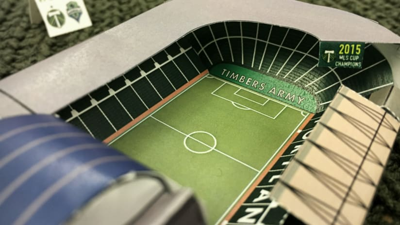 Completed paper cutout Providence Park
