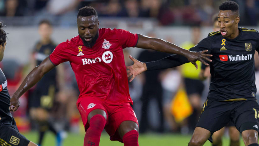 Jozy Altidore - Toronto FC - Mark-Anthony Kaye - LAFC - in action