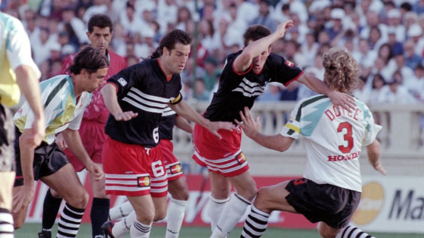 D.C. United and San Jose Clash play in first MLS game, 1996