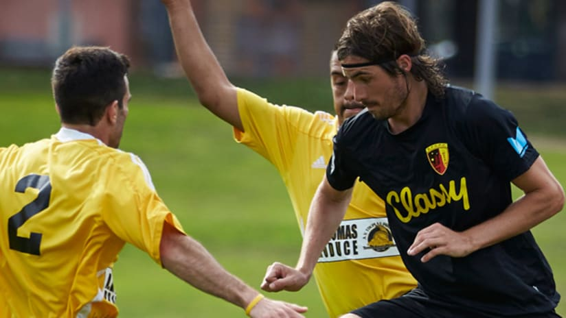 San Francisco City FC forward Taylor Amman in action (formerly at Stanford) - Building the Pyramid
