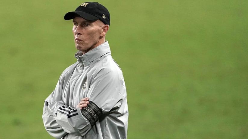 Bob Bradley - LAFC - sideline stare
