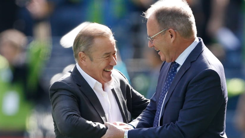 Adrian Heath and Brian Schmetzer - Minnesota United and Seattle Sounders