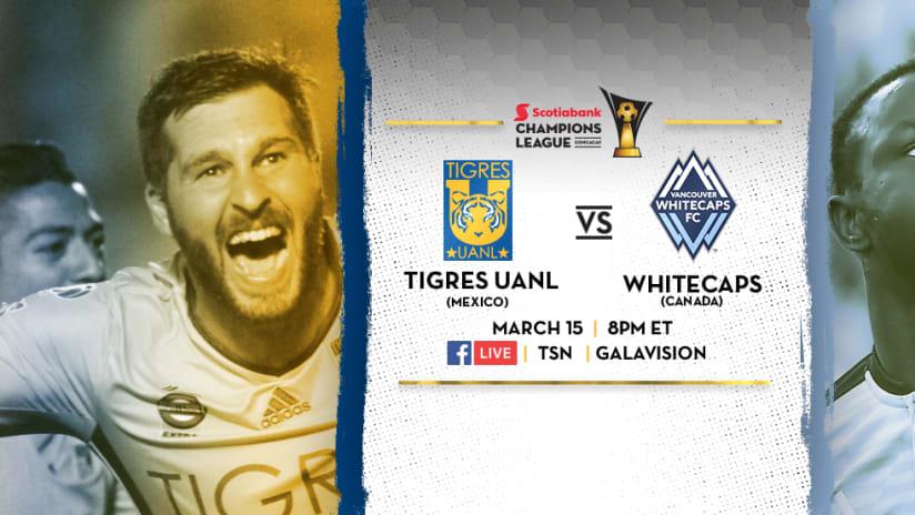 Tigres UANL vs. Vancouver Whitecaps - March 14, 2017 - DL image
