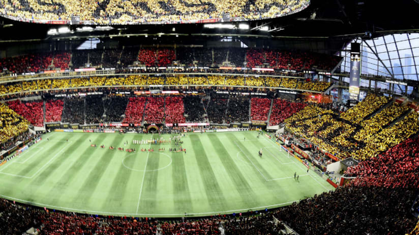 Mercedes-Benz Stadium -- full stadium tifo - conference final