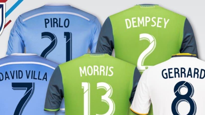 Top-selling jerseys July 2016