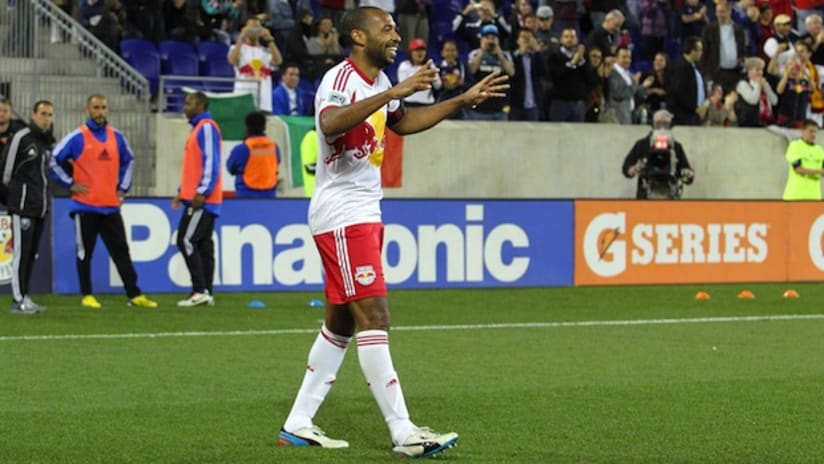 Thierry Henry celebrates his goal vs. Montreal