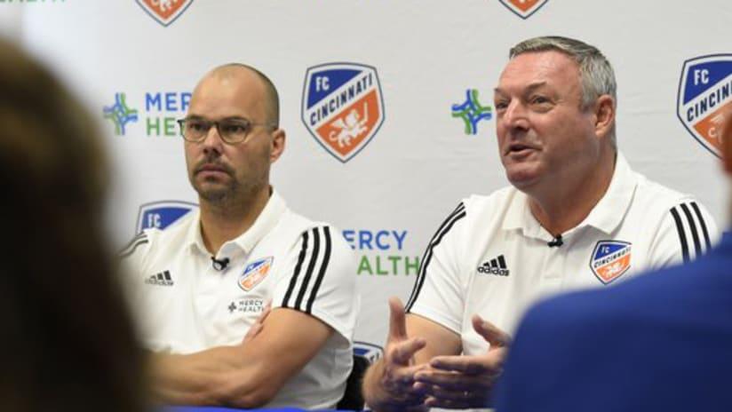 Gerard Nijkamp - Ron Jans - FC Cincinnati - press conference