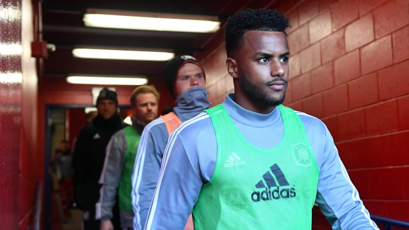 Mo Adams walks in the tunnel - Chicago Fire