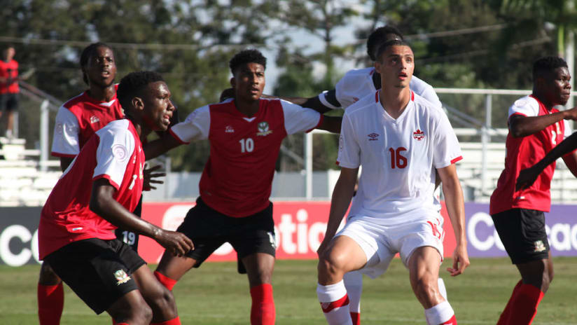 Toronto FC II's Rocco Romeo for Canada in Concacaf U-20 Championship