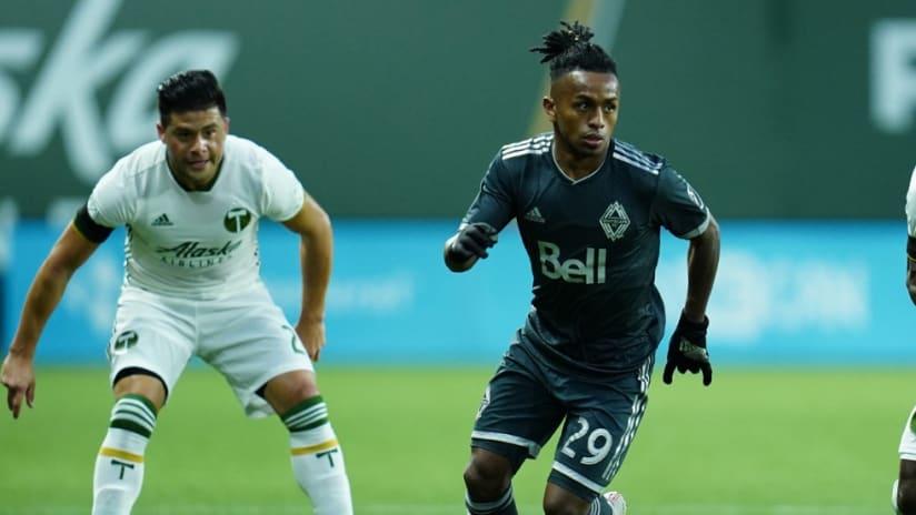 Yordy Reyna - dribbling - against Portland Timbers