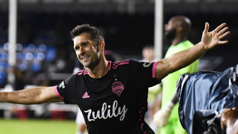 Will Bruin - Celebrating - MLS is Back Tournament