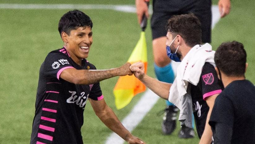 Raul Ruidiaz - Celebrating - Goal vs. Portland