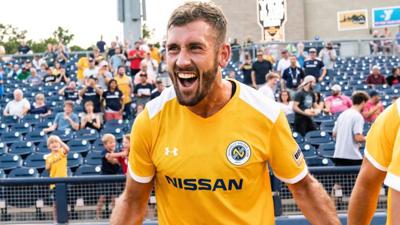 Ken Tribbett - Nashville SC - celebrates a goal
