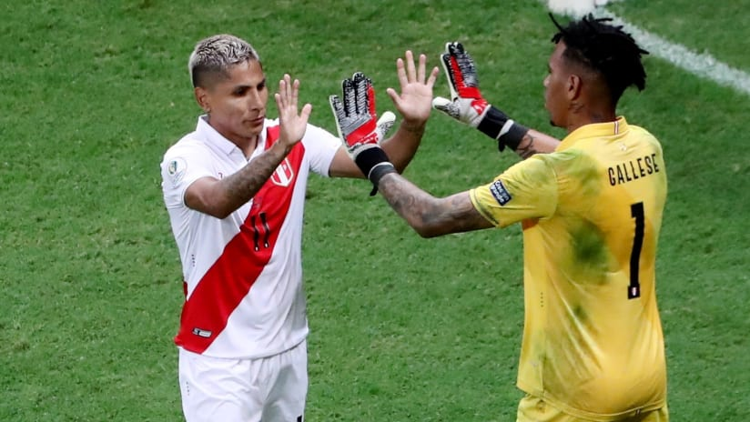 Raul Ruidiaz celebrates with Peru - Seattle Sounders