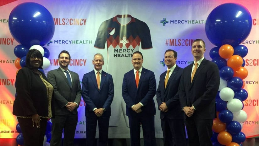 FC Cincinnati and Mercy Healthy partnership announcement