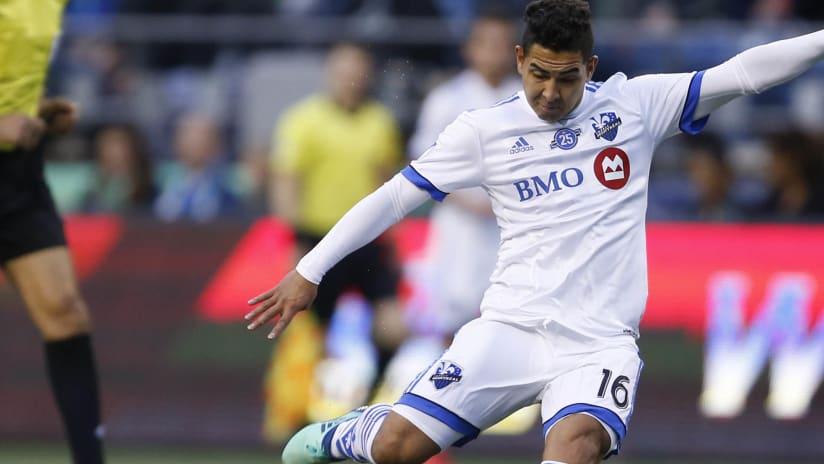 Jeisson Vargas - Montreal Impact - kicking