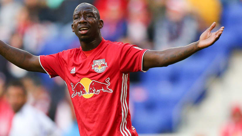 Bradley Wright-Phillips - New York Red Bulls - iso - reacts during a game - October 2018