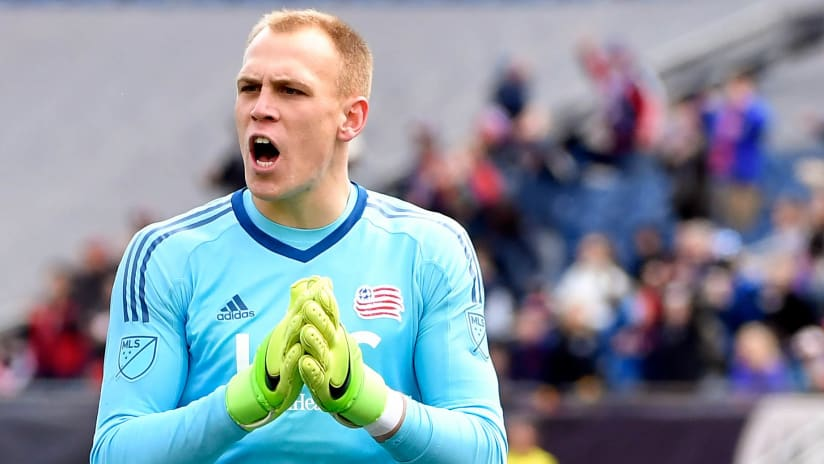 Cody Cropper - New England Revolution - isolated