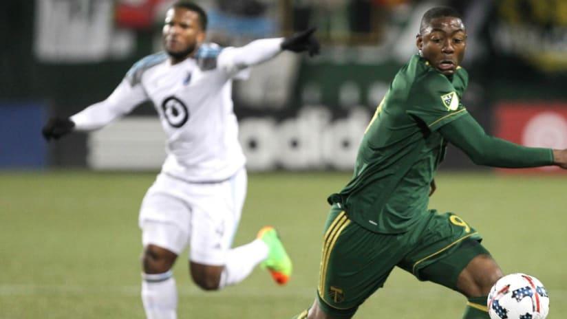 Fanendo Adi - Jermaine Taylor (background) - Portland Timbers - Minnesota United