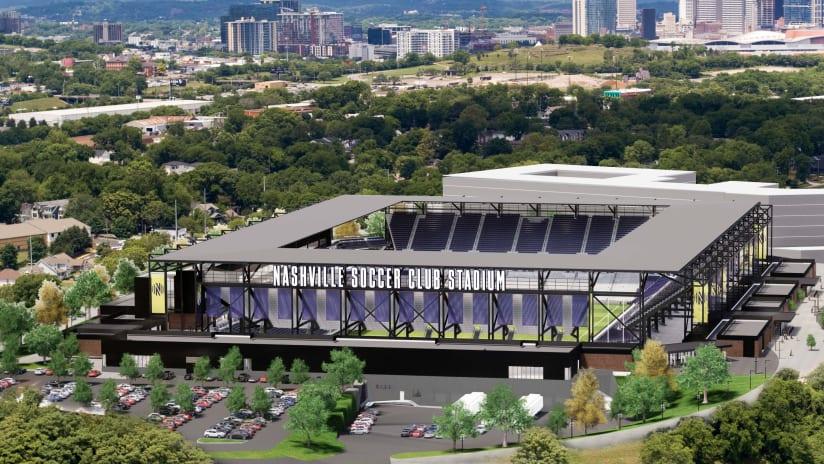 Nashville SC - Stadium rendering - South Day View