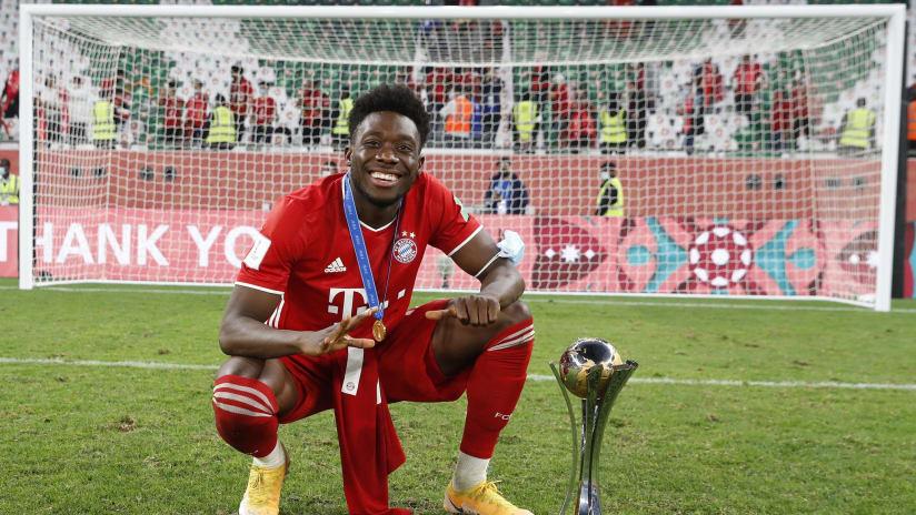 Alphonso Davies - Bayern Munich - w/ Club World Cup trophy