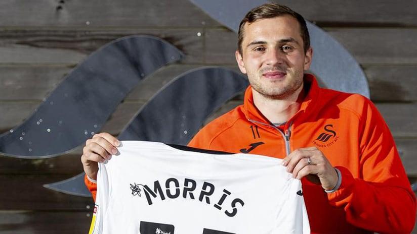 Jordan Morris - Swansea City - jersey pose