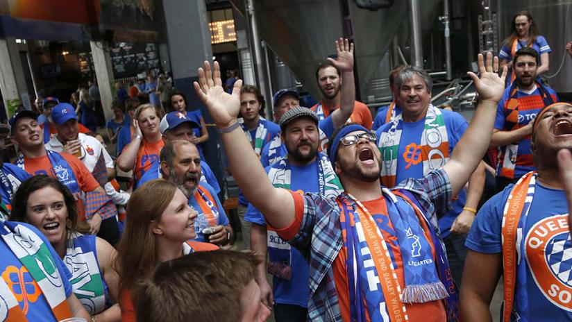 Cincinnati fans - Expansion announcement - Singing