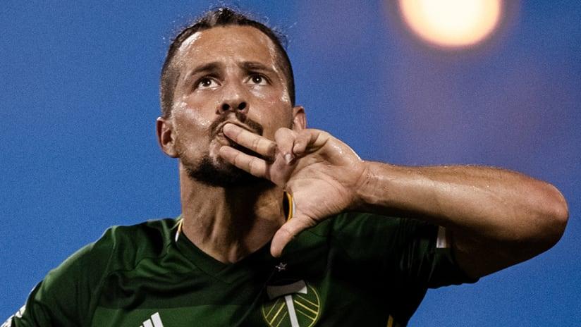 Sebastian Blanco - Portland Timbers - goal celebration