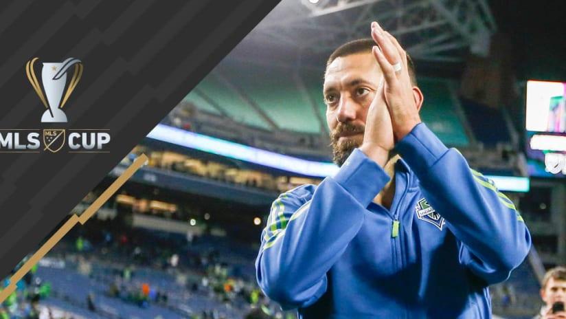 Clint Dempsey -- Applauds Crowd -- MLS Cup overlay