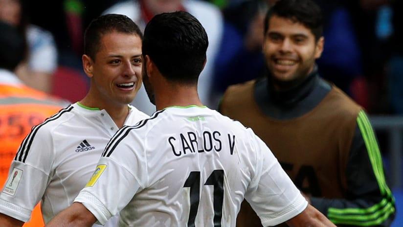 Carlos Vela - Javier Hernandez - face to face